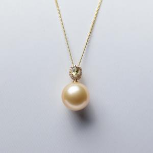 18K海水金色珍珠吊坠