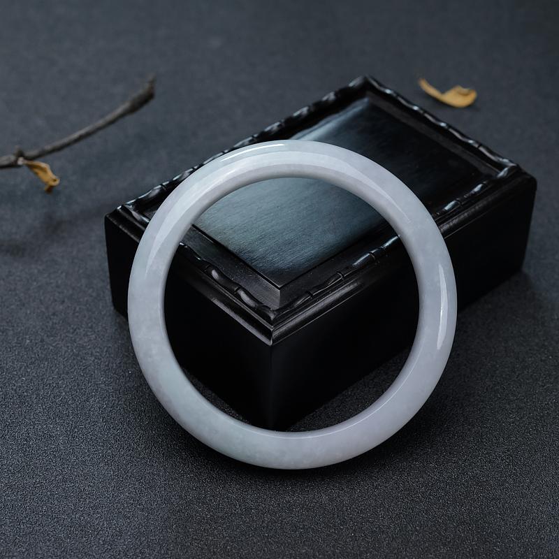 58.5mm糯种翡翠平安镯第4张