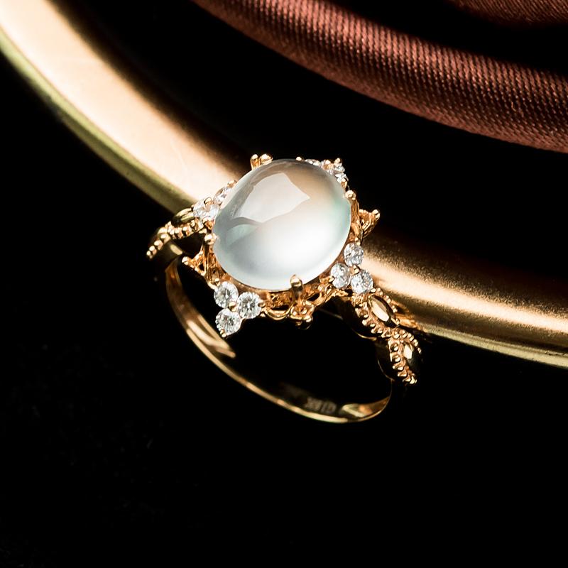 18K玻璃种翡翠戒指