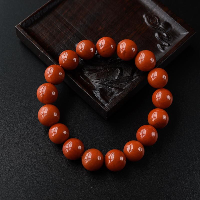 11.5mm柿子红南红手串