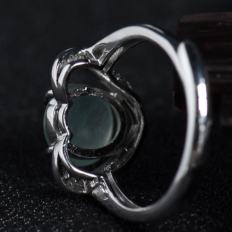 银镶冰种翡翠戒指第5张