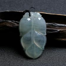 冰糯种翡翠金枝玉叶挂件