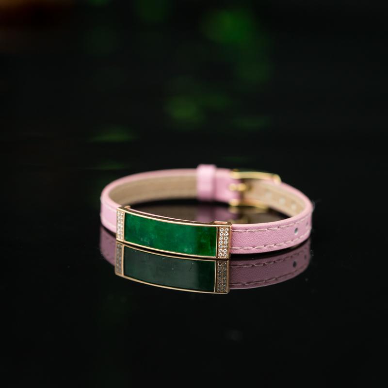 58.2mm18K糯种深绿翡翠手环