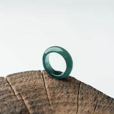 冰种蓝水翡翠戒指