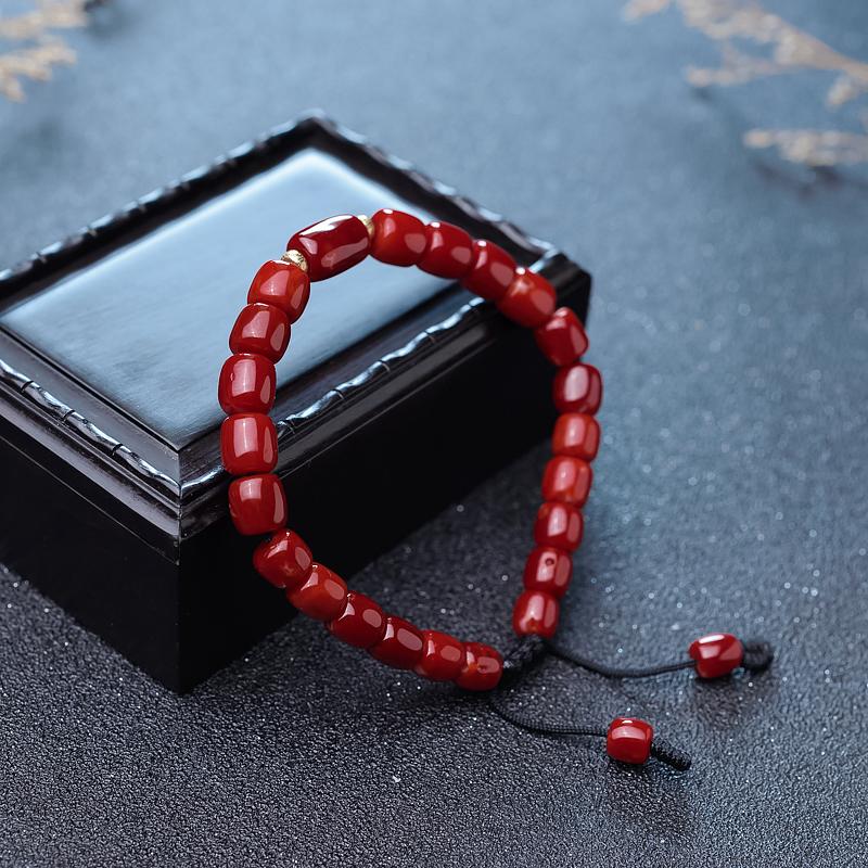 阿卡牛血红珊瑚桶珠单圈手串第3张