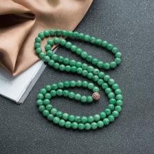 6.5mm糯种豆绿翡翠项链