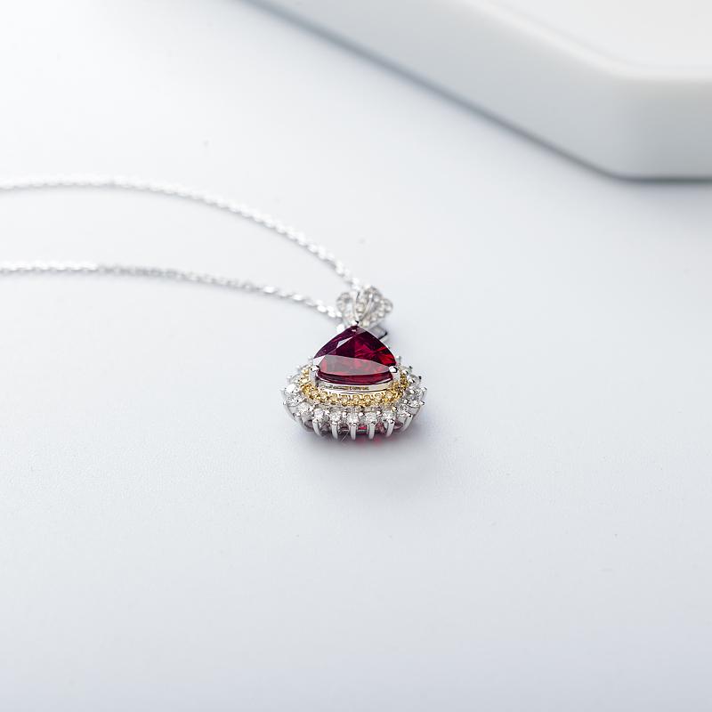 18K鸽血红红宝石项链第5张