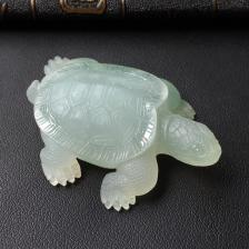 冰种晴水长寿龟小摆件