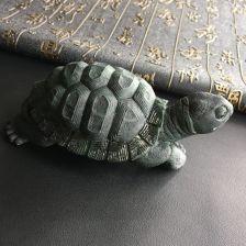 细糯种墨翠长寿龟摆件