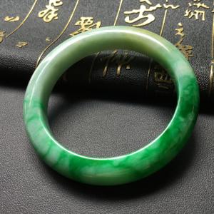 糯冰种飘翠手镯(54.8mm)