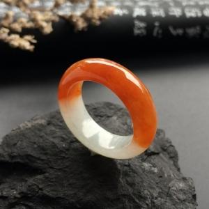 糯冰种红黄翡指环