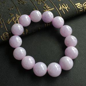 糯冰种紫罗兰圆珠手串
