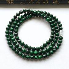 细糯种廯加绿圆珠项链