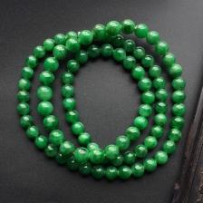 糯冰种浓绿项链