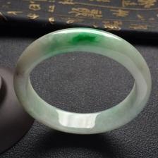 糯冰种飘翠手镯(62mm)