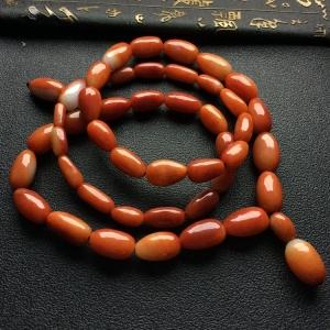 糯冰种红黄翡原石手玩链