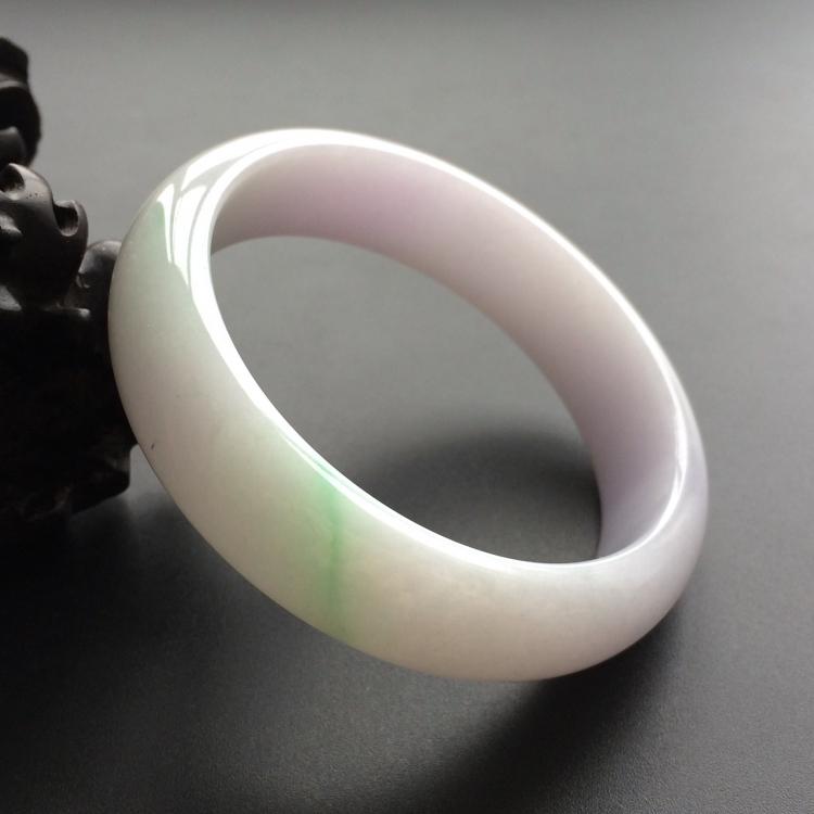 糯冰种春带彩手镯(57.2mm)