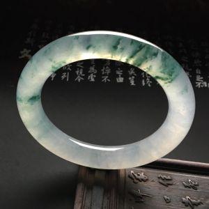 冰种飘花圆条手镯(56mm)