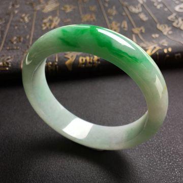 糯冰种飘翠手镯(57.8mm)