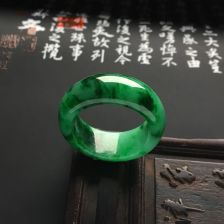 糯冰种浓绿指环
