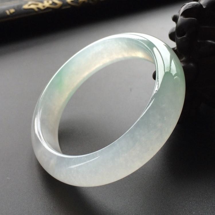 冰种略飘花贵妃镯(56mm-48mm)第1张
