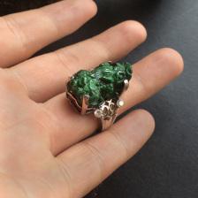 细糯种浓绿貔貅戒指