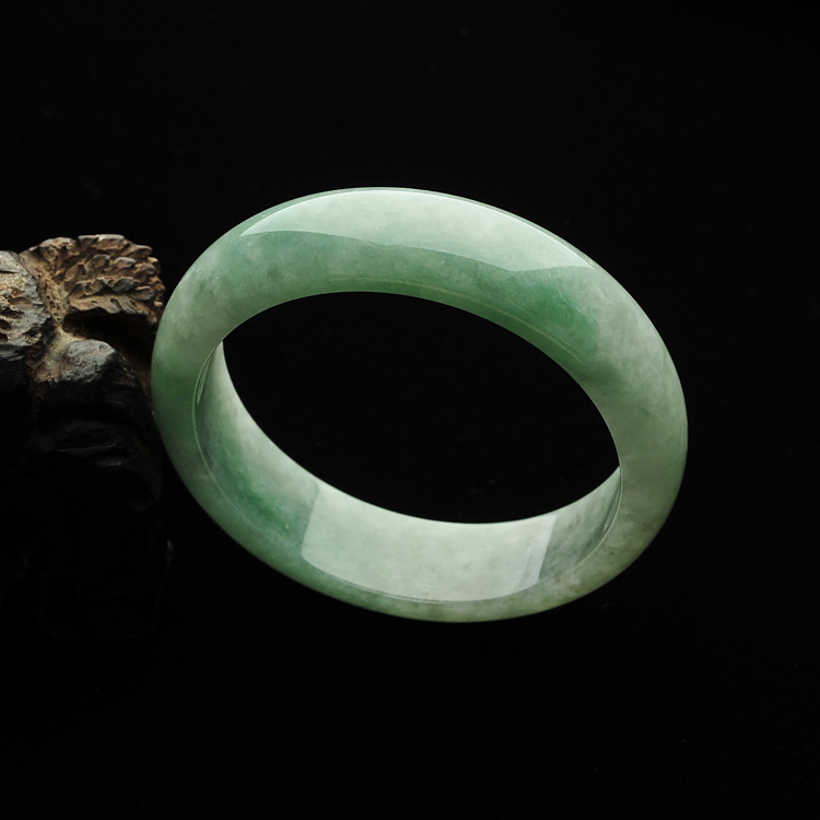 糯冰种青色手镯(57.2mm)