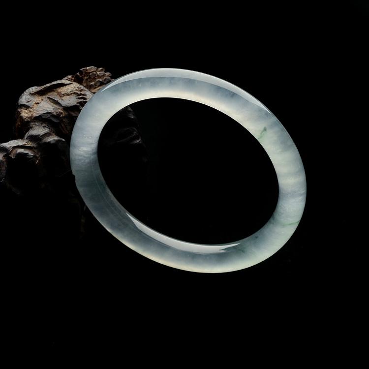 冰种飘花圆条手镯(61mm)