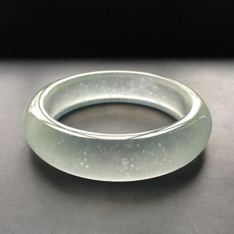 玻璃种强莹光无色手镯(55.4mm)第4张