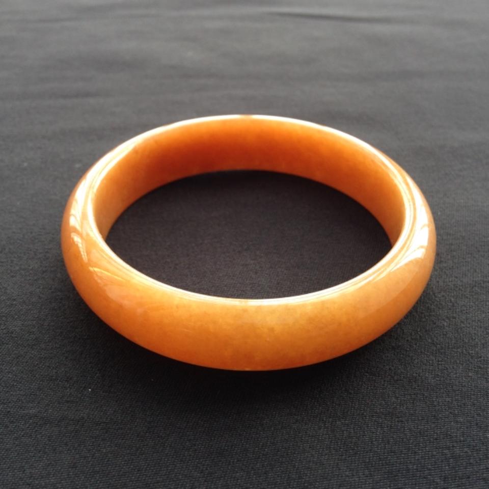 糯冰种红黄翡手镯(56.6mm)翡翠