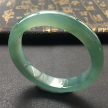 冰种蓝晴水翡翠手镯(56.4mm)
