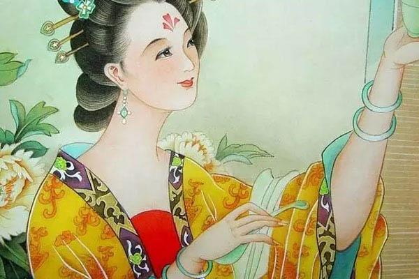 杨贵妃喜爱佩戴翡翠手镯