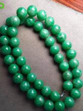 豆种满绿翡翠珠链