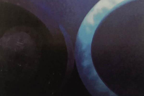 浸蜡翡翠紫外荧光长波(LW)下反应