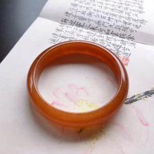 冰糯种满圈红翡平安镯