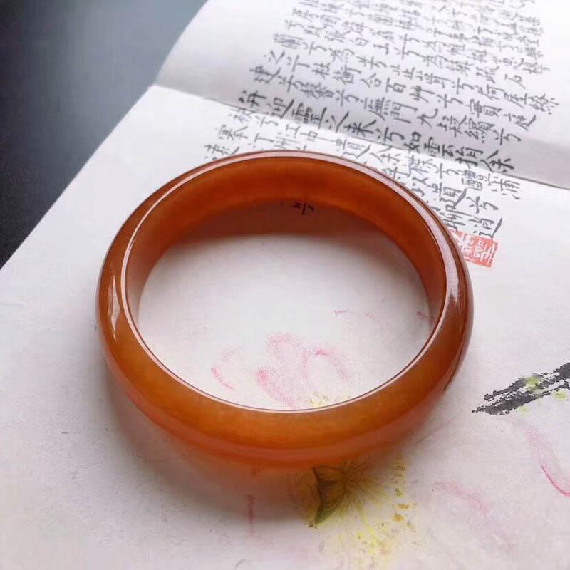 冰糯种满圈红翡平安镯第6张