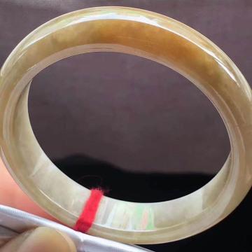 糯种正圈黄翡手镯 51.5mm