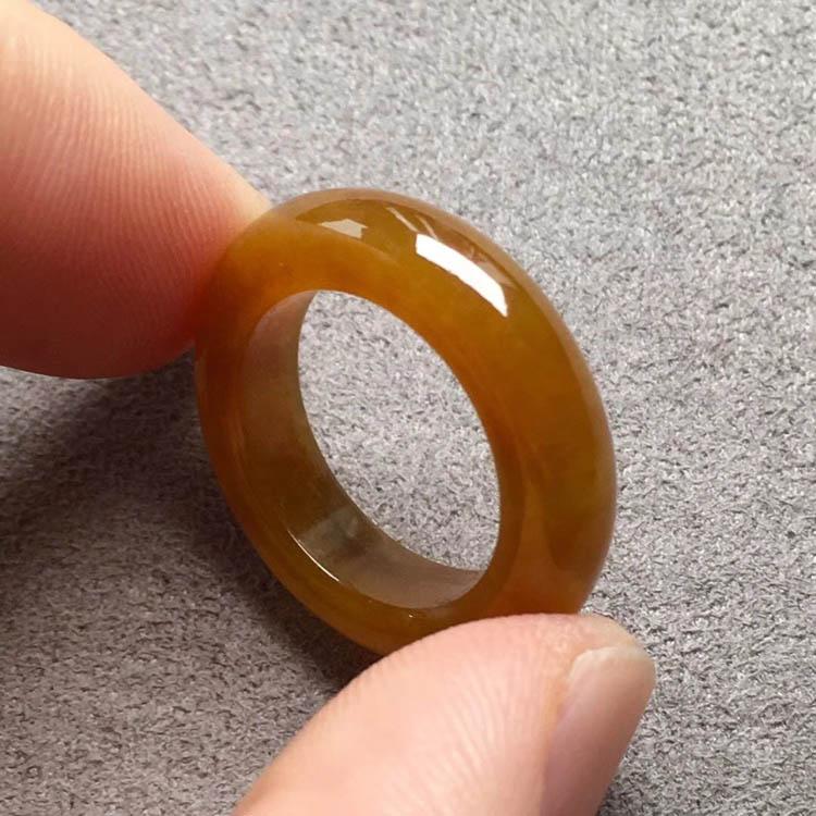 糯冰种起胶红翡指环指圈第2张