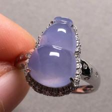 紫罗兰冰种葫芦翡翠戒指