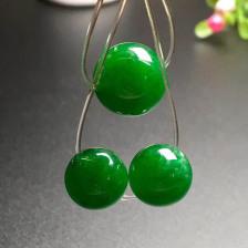 浓绿冰种珠子翡翠手链(一手三个)