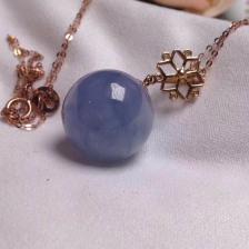 糯种紫罗兰翡翠锁骨项链