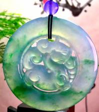 冰种飘花貔貅翡翠挂件