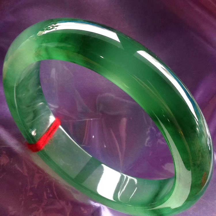 满绿冰种正圈翡翠手镯