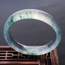 飘花玻璃种翡翠手镯 58mm