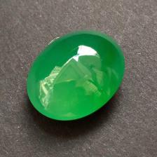 冰种阳绿蛋面翡翠裸石