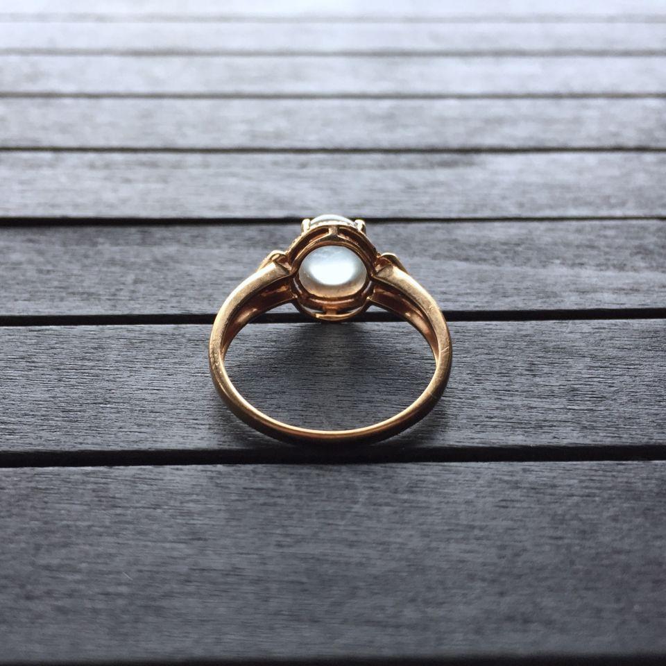 冰种无色翡翠戒指 镶玫瑰金钻石第6张