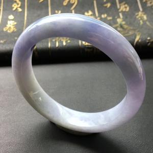 冰种紫罗兰翡翠手镯
