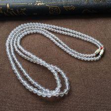 无色冰玻种圆珠翡翠项链(一起走)
