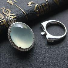 冰种晴水翡翠胸坠/戒指(两用)