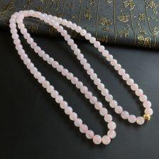 冰种晴水翡翠圆珠项链/108佛珠